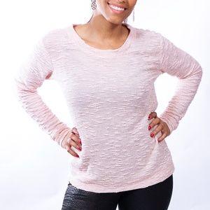 Jessica Simpson crew neck pink sweater, size M